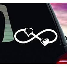 Amazon Com Infinity Symbol Vinyl Decal Infinity Heart Car Decal Infinity Symbol Bumper Sticker Infinity Heart Vinyl Decal Car Decal Made In Usa Kitchen Dining