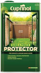 Cuprinol Shed Fence Protector 5l Acorn Brown 448271 Amazon Co Uk Diy Tools