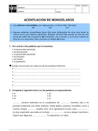 Acentuacion De Monosilabos