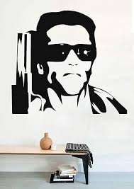 Amazon Com Vinyl Wall Decal Famous Persons Arnold Schwarzenegger Terminator Home Decor Sticker Vinyl Decals Home Kitchen