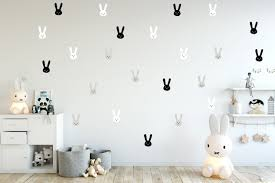 Amazon Com Bunny Wall Stickers Baby Wall Decal Removable Stickers Kids Wall Decal Baby Nursery Wall Decal Murals Modern Nursery Wall Decal Scandinavian Room Handmade