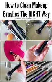 how to clean makeup brushes the easy