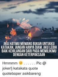 instagram jokkerfj jika hatimu memang bukan untukku katakan jangan