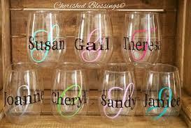 glitter stainless steel wine glasses