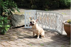 Zoogamo 3 Panel White Wooden Hearts Design Pet Gate Freestanding Tri Fold Durable Wooden Dog Fence Indoor Outdoor Barrier For Stair In 2020 Dog Fence Pet Gate Dogs