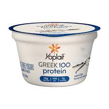 greek 100 vanilla flavor yogurt yoplait