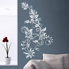 Wall Sticker Floral Tarai Ideal Living Rooms Bedrooms Or Hallways Vinyl Decals Vertical Ornamental Floral Wall Murals Hot Bd14 Wall Stickers Aliexpress