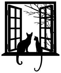 Cat Looking Through Window Silhouette Contemporary Wall Decals By Dana Decals