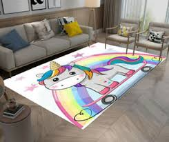Skateboard Unicorn Rainbow Kids Play Area Rugs Home Living Room Carpet Floor Mat Ebay