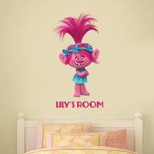 Trolls Poppy Personalised Wall Sticker Etsy