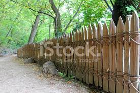 Classic Wooden Fence With No Nails Screws Stock Photos Freeimages Com