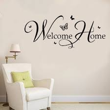 Wall Decal Welcome Home Wall Sticker Home Diy Vinyl Wall Mural Living Room Home Window Door Decoration Wall Art Mural Ay627 Wall Stickers Aliexpress