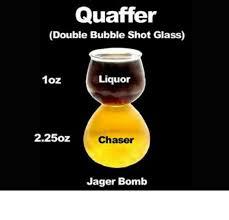 quaffer double bubble shot glass 1oz