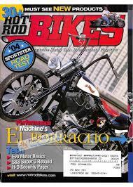 cover print of hot rod bikes june 2004