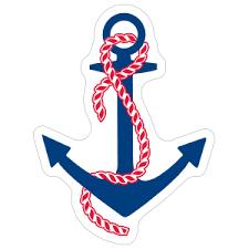 Delta Gamma Blue Anchor Sticker