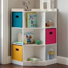 Riverridge Kids 6 Cubby 3 Shelf Corner Cabinet White Walmart Com Walmart Com