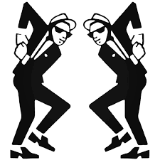 Two Tone Ska Guys Skanking Mod Decal Sticker