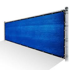 Colourtree 8 Ft X 12 Ft Blue Privacy Fence Screen Mesh Fabric Cover Windscreen With Reinforced Grommets For Garden Fence Tap0812 6 The Home Depot