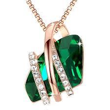 green pendant necklaces com