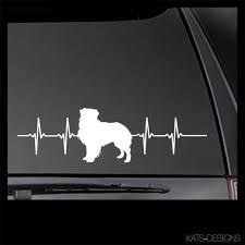 Australian Shepherd Heartbeat Decal Aussie Decal Car Etsy