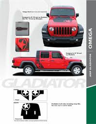 Jeep Gladiator Hood Decals Jeep Gladiator Body Stripes Omega