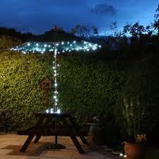 led 23m white solar powered fairy light