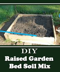 diy raised garden bed soil mix with