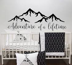 Quotes Wall Decal Adventure Of A Lifetime Vinyl Decor Boy Etsy Baby Wall Decals Nursery Wall Decals Boy Nursery Wall Decals