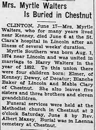 Obituary for Myrtle Walters - Newspapers.com