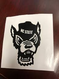 Nc State Wolfpack Decal Etsy