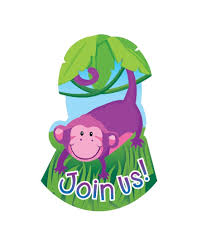 Invitaciones De Cumpleanos Animales De La Selva Pack De 8 Uds