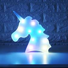 Amazon Com Whatook Colorful Unicorn Light Changeable Night Lights Battery Operated Decorative Marquee Signs Rainbow Led Lamp Wall Decoration For Living Room Bedroom Home Christmas Kids Toys Home Kitchen