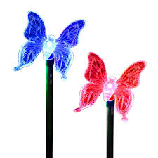 color changing erfly garden stake