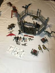 Vtg Jurassic Park Iii Raptor Attack Electric Fence Gate Command Compound Weapons For Sale Online