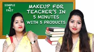 simple fast makeup for teacher s in 5