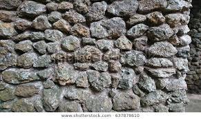 garden rock wall texture stock photo