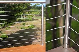 Stainless Steel Modular Handrail And Posts With Stainless Steel Tension Wires Composite Decking Sydney