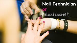 manicurist and a nail technician