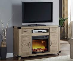 54 light brown rustic console electric