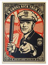 police poster wall art decorative