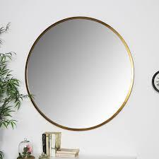 large round gold mirror 100cm x 100cm