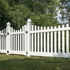 Lennox White Vinyl Fence Vinyl Fence Panels Vinyl Picket Fence