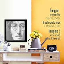 Imagine John Lennon Wall Sticker Song Lyrics Wall Art Etsy