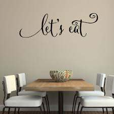 Wall Quotes Decals Let S Eat Kitchen Quotes Stickers Dining Room Wall Decals Vinyl Decal Family Lettering Wall Arts 640q Wall Art Wall Quotesquote Sticker Aliexpress