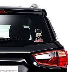 Superhero Graphic Car Decal Personalized Youcustomizeit