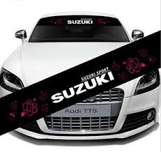 Reflective Front Windshield Banner Decal Car Sticker For Suzuki Auto Exterio Diy Ebay