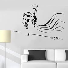 Amazon Com Wall Stickers Decal Removable Vinyl Decal Quote Art Greece Spartan Warrior Spear War Ancient Home Decor Art Home Kitchen