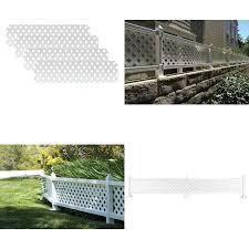 1 Ft H X 4 Ft W White Modular Vinyl Lattice Fence Panel 4 Pack Ebay