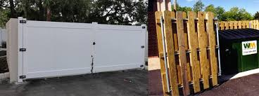 Trash Enclosure Fences Trash Can Enclosures M R Fence