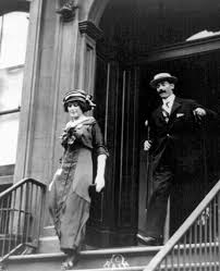 John Jacob Astor IV and his wife Madeline leaving their apartment ...